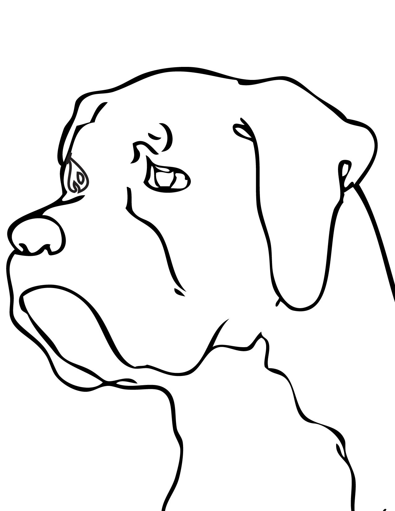 Line Drawing Of A Boxer Dog : Boxer dog line drawing at getdrawings free for