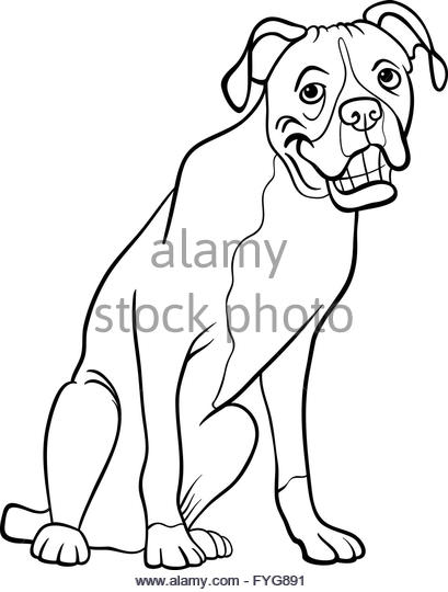 409x540 Vector Illustration Cute Boxer Dog Stock Photos Amp