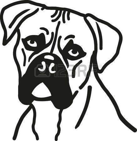 438x450 German Boxer Boxer Dog Head Industrial Logos