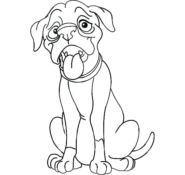 Boxer Dog Line Drawing At Getdrawings Com Free For Personal Use