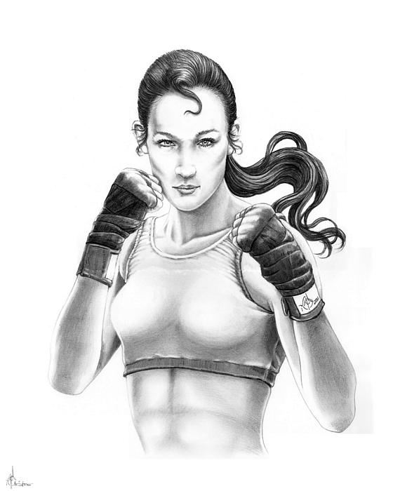 560x700 Lady Boxer Drawing By Murphy Elliott