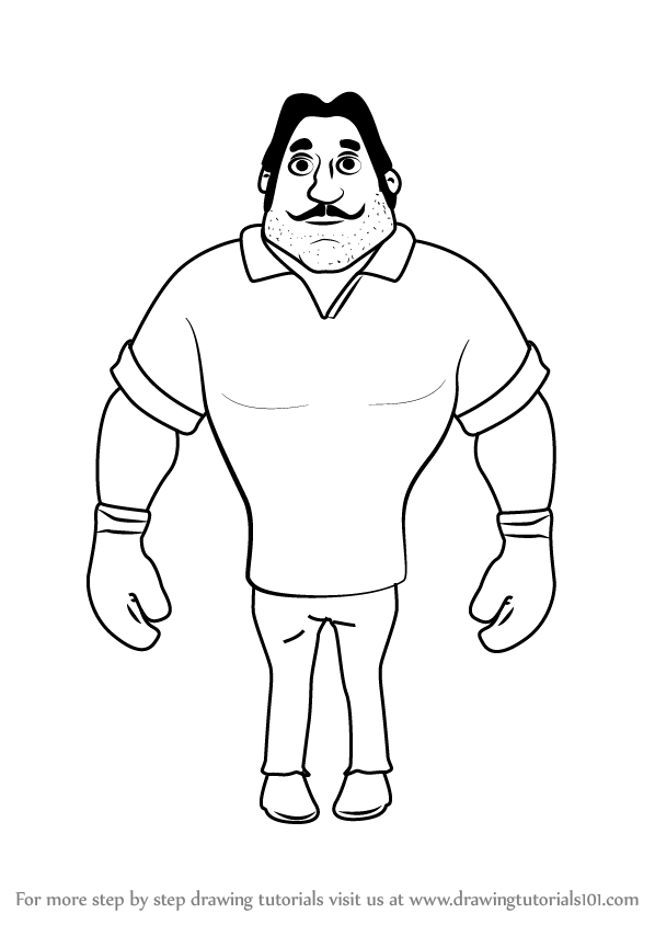598x844 Step By Step How To Draw Boxer From Motu Patlu
