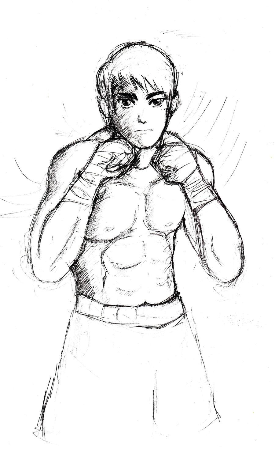 900x1469 Thai Boxing Fighter By Albertdinata