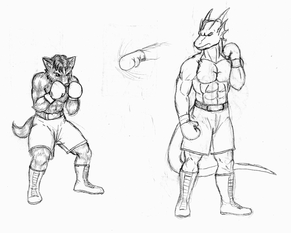 600x480 Furry Boxing Fighters By Ncrediblecarl