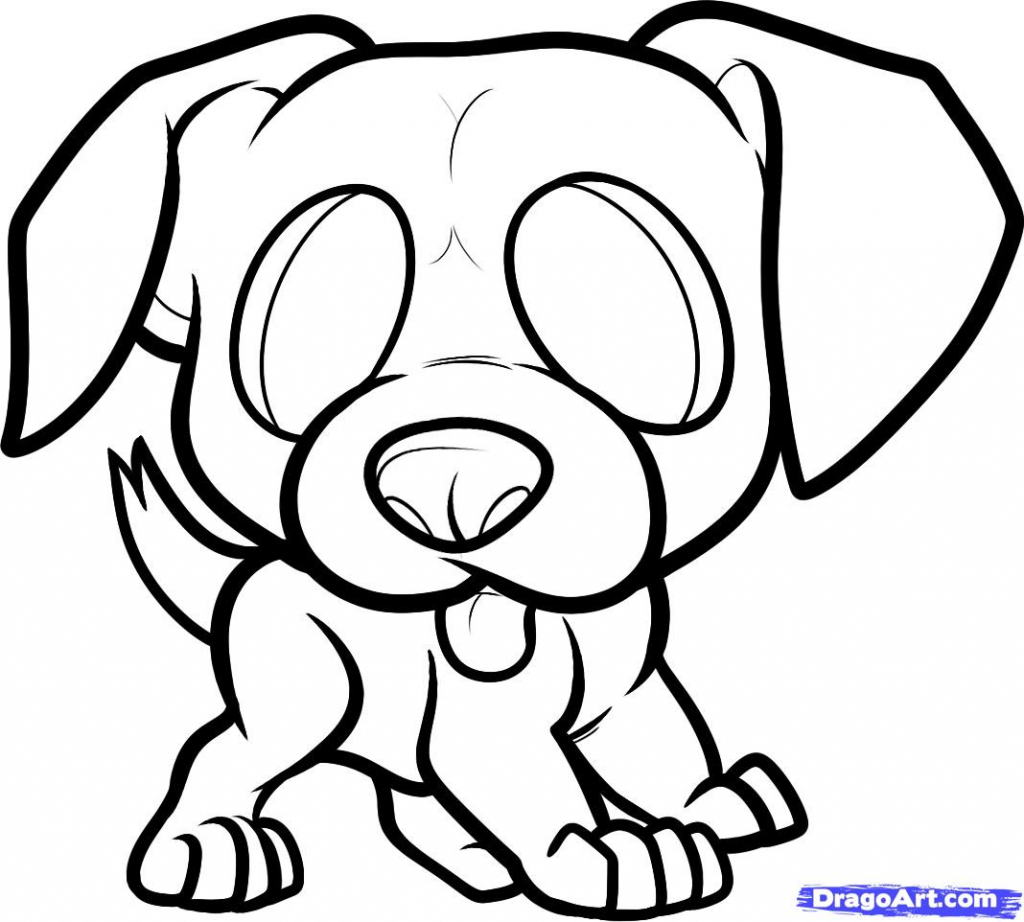 1024x922 How To Draw A Puppy For Kids How To Draw A Boxer Puppy, Boxer
