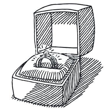 380x379 Engagement Ring Jewelry Box Stock Illustration Engagement Ring