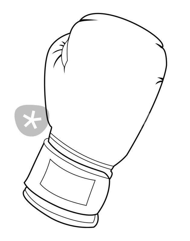 629x800 Black and white boxing glove Drawing art prints and posters by