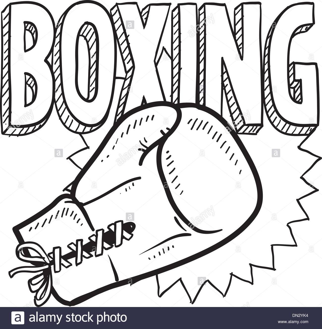 1300x1331 Boxing sketch Stock Vector Art amp Illustration, Vector Image