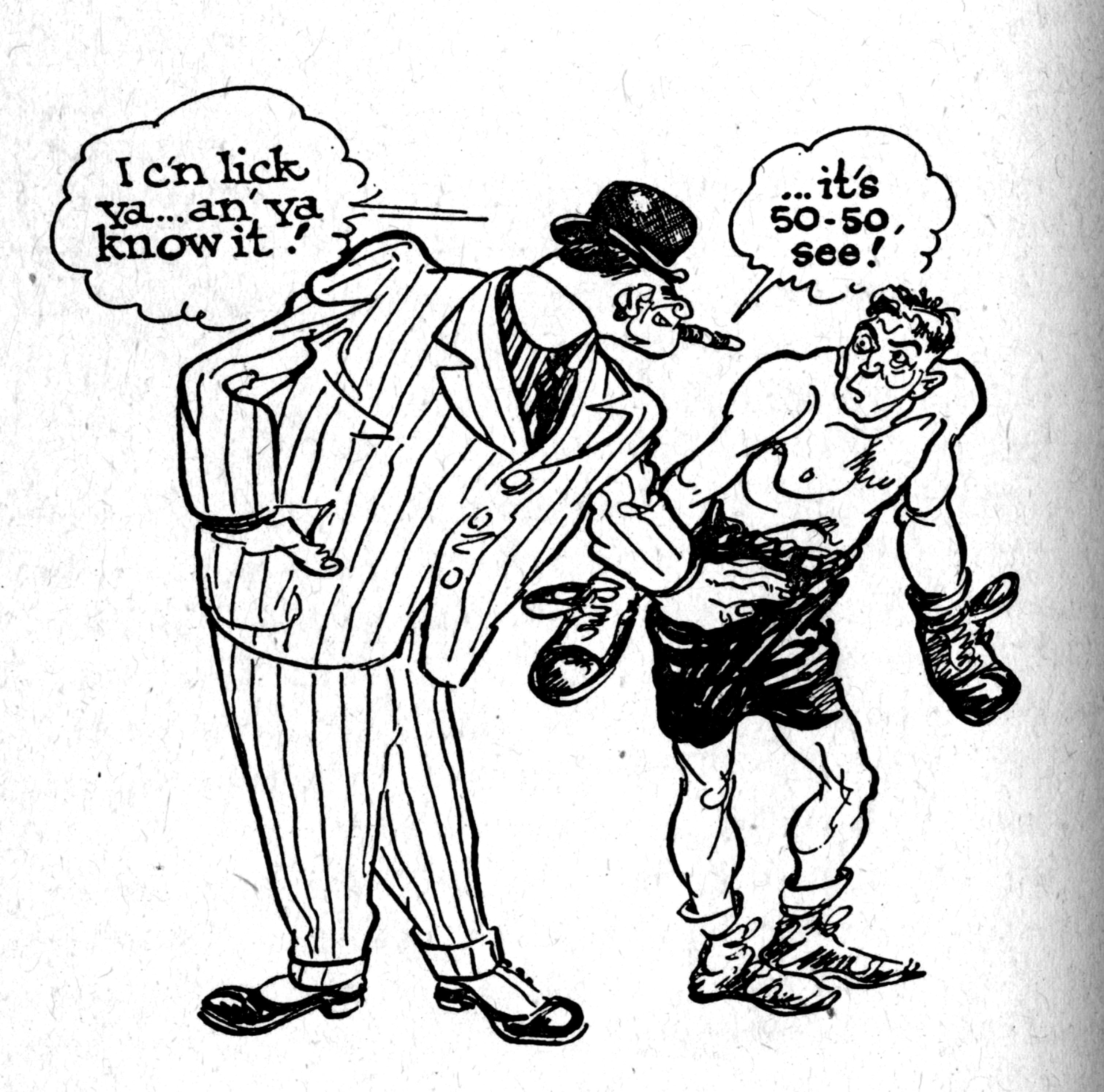 3020x2988 Cartoon SNAP Boxing Cartoons by Willard Mullin