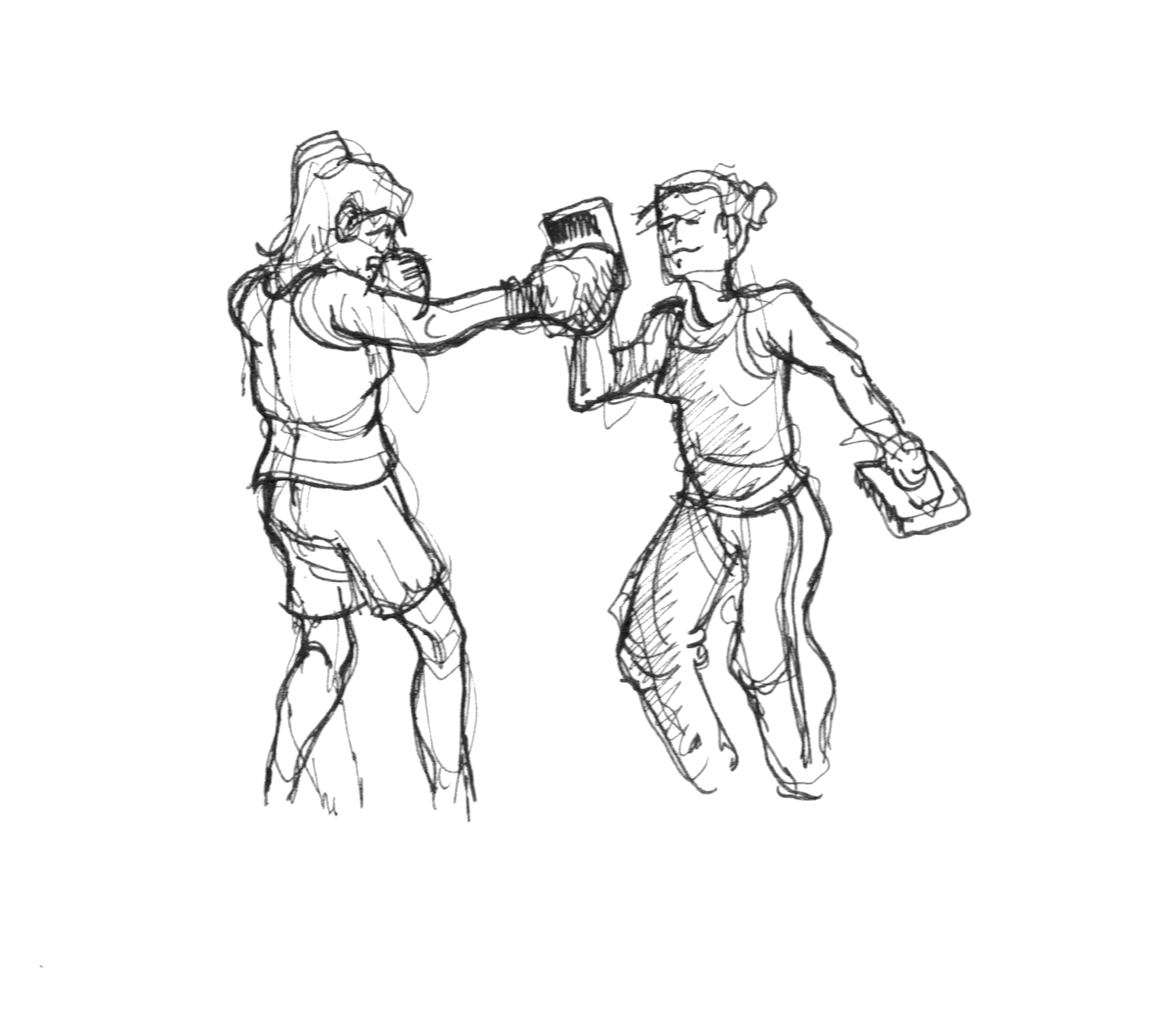 2024x1776 Dai#39s Reportage Drawing people in action – Boxing