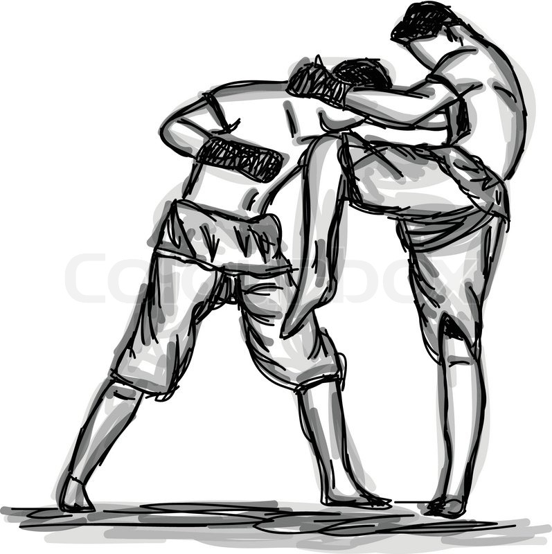797x800 Vector Thai Boxing Collection Muay Thai Martial Art Popular