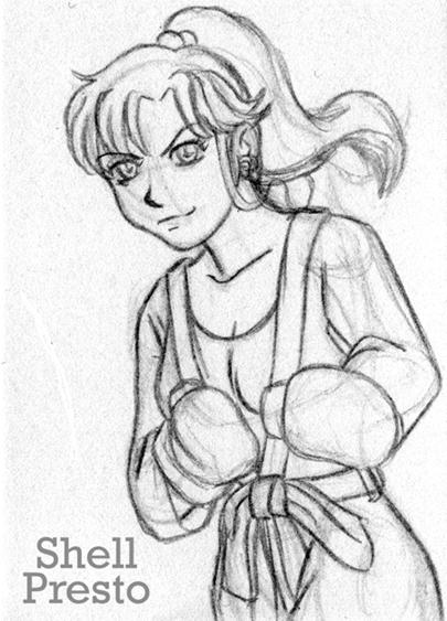 405x563 Boxing Sailor Jupiter pencils by shellpresto on DeviantArt