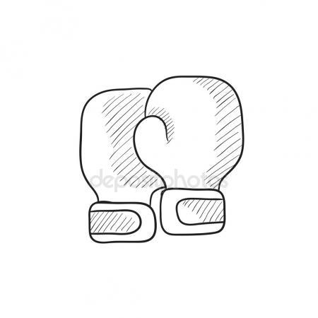 450x450 Gloves Sketch Icon. Stock Vector Rastudio