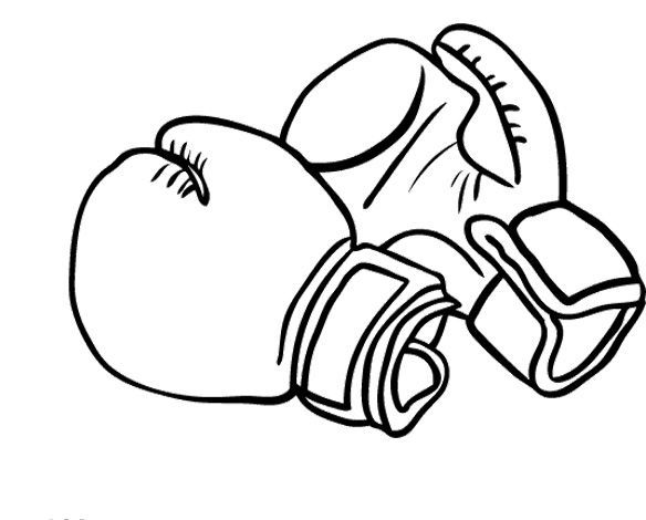 584x470 Printable Boxing Gloves Coloring Pages