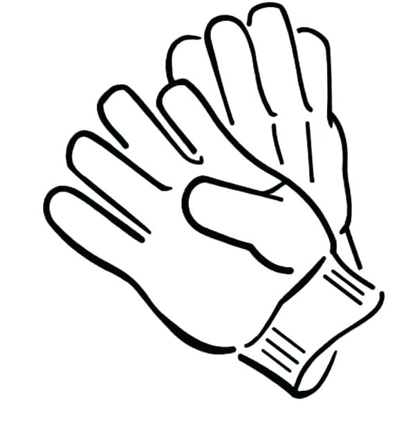 Boxing glove drawing at free for for Coloring pages of mittens and gloves