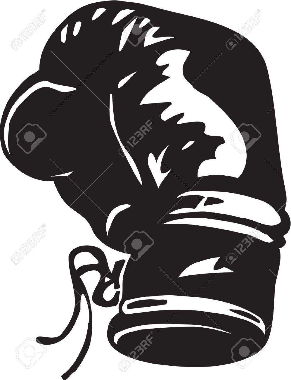 996x1300 Black clipart boxing glove