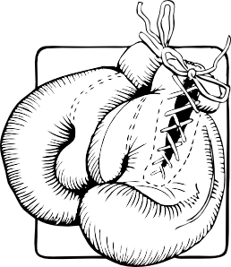 258x298 Boxing Gloves Outline Clip Art