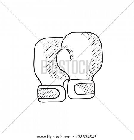 450x470 Boxing Gloves Vector Sketch Icon Vector amp Photo Bigstock