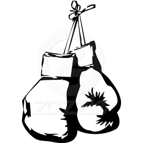 564x564 Boxing Gloves Drawing Black And White