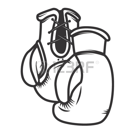 450x450 Boxing Club. Keep Fighting. Hand Drawn Boxing Gloves On Grunge