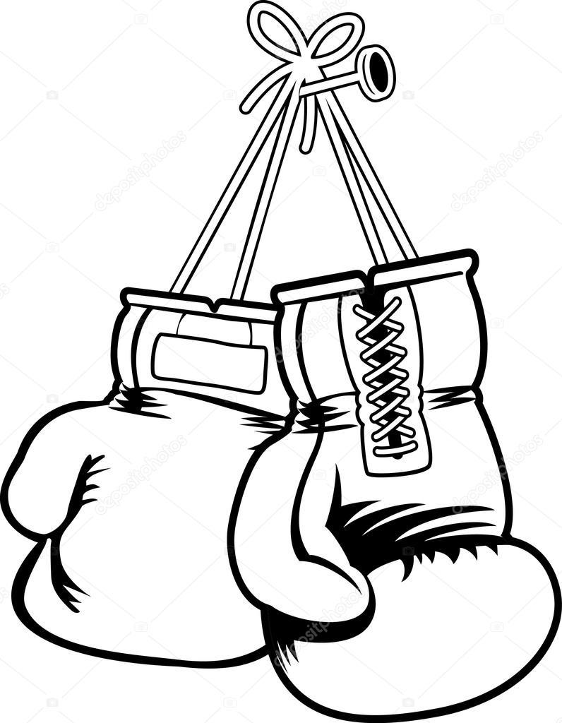796x1024 Boxing gloves — Stock Vector © halimqd