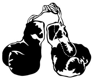 320x270 Boxing Gloves Decal Sticker