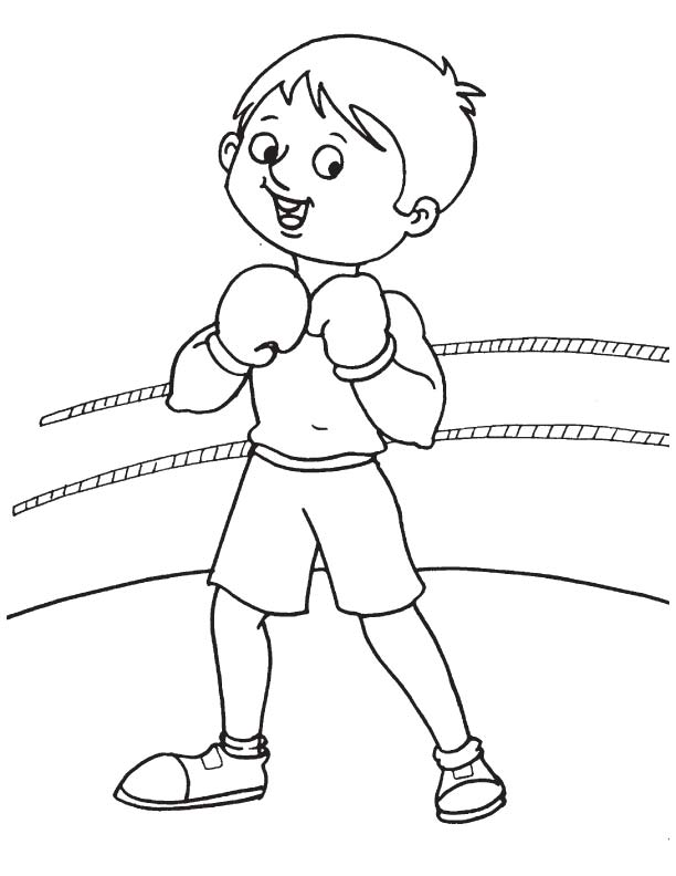 612x792 Practice Boxing Ring Coloring Page Download Free Practice