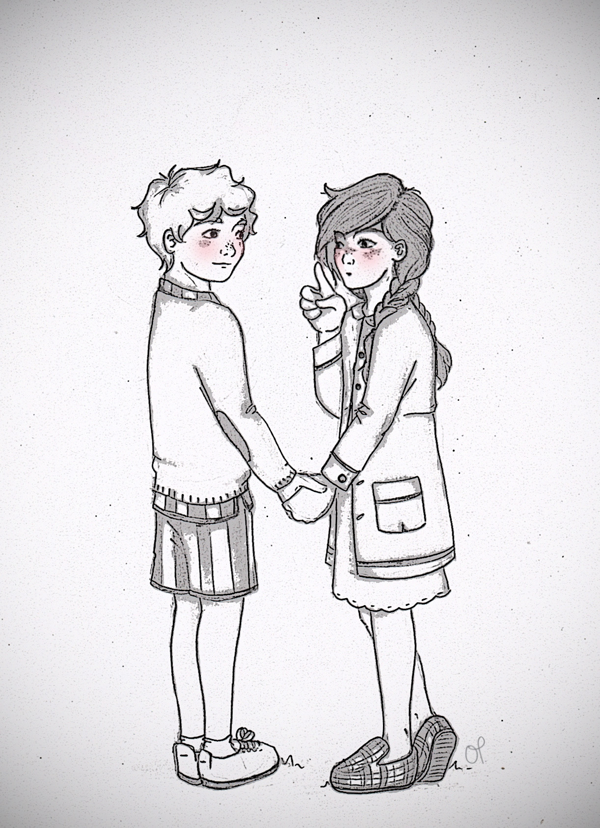 1222x1686 Drawing Of Girl And Boy Tumblr Young Everlark Tumblr. Drawings