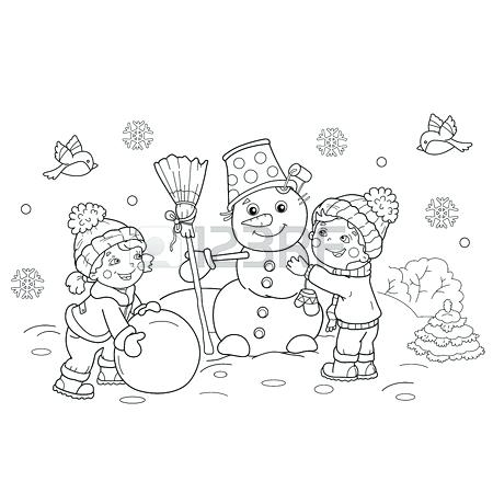 450x450 Outline A Boy And Girl Coloring Pages Coloring Page Outline