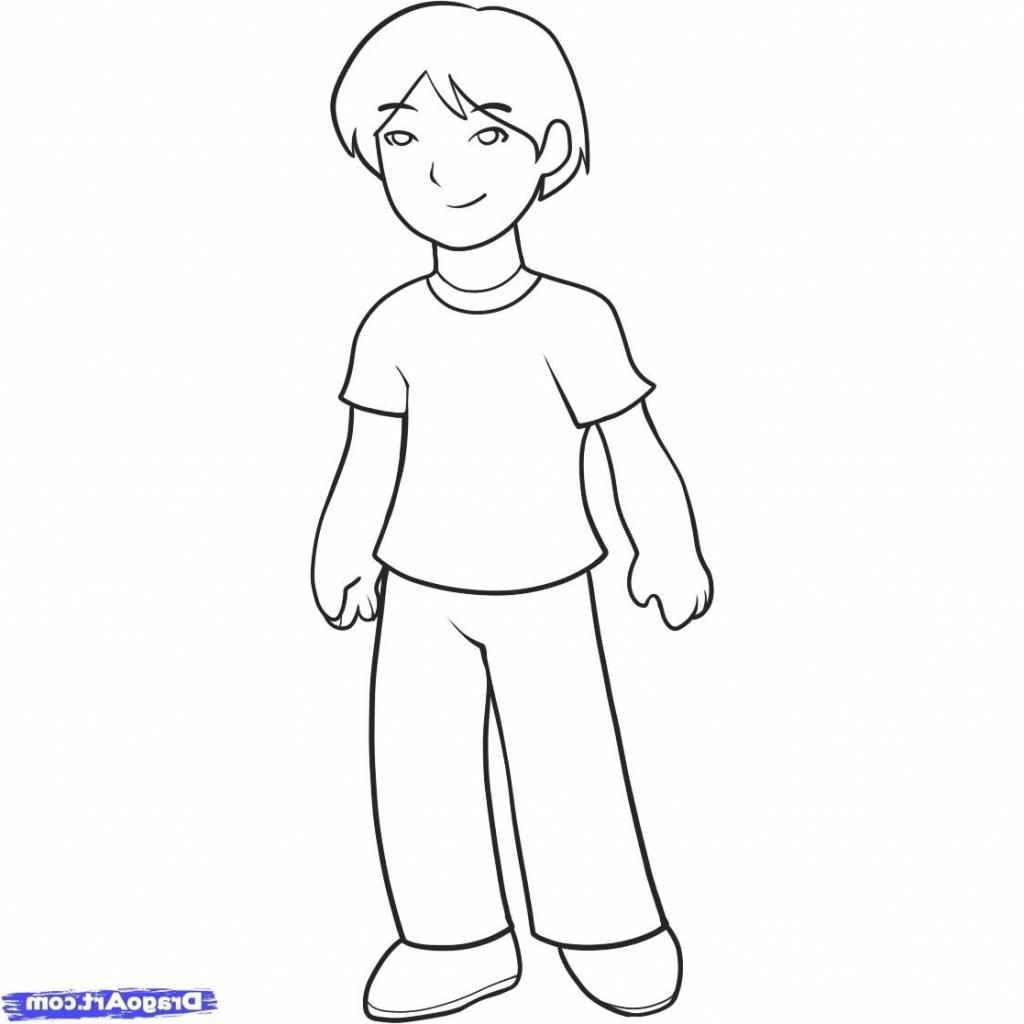 1024x1024 Cartoon Boy Drawing