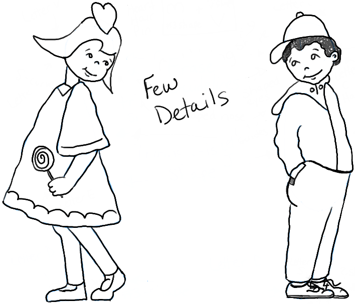 708x607 How to Draw Boy and Girl in Puppy Love for Valentines Day