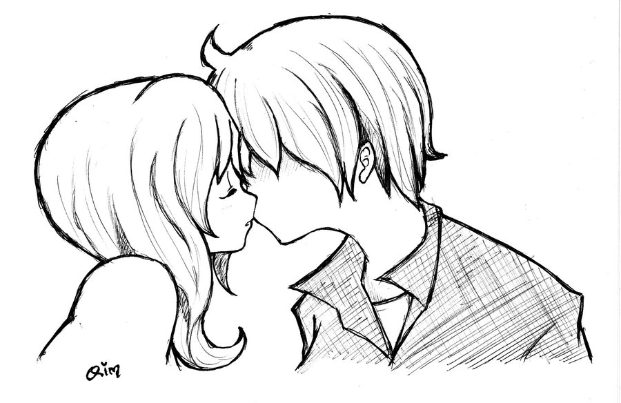 900x584 Kiss boy n girl by Qimqima on DeviantArt