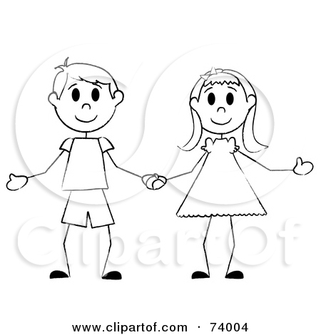 450x470 Clipart boy and girl holding hands