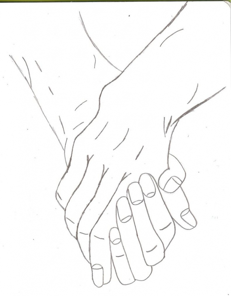 801x1024 How To Draw 2 People Holding Hands Boy And Girl Holding Hands