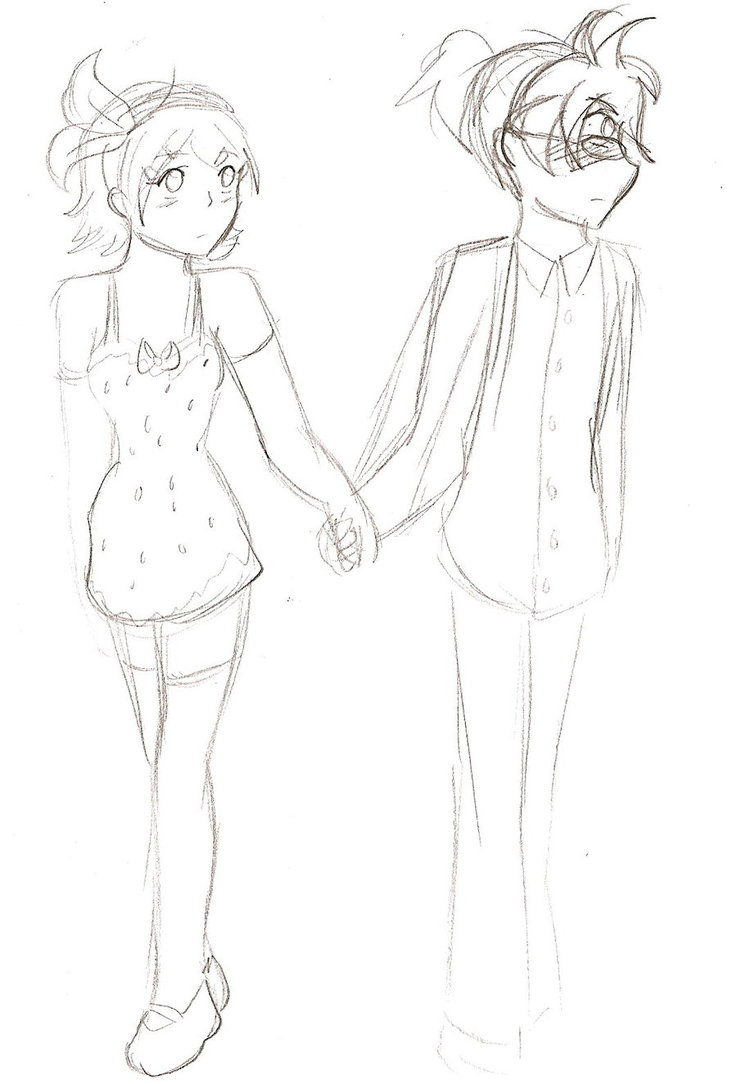 737x1084 A Girl And A Boy Holding Hands Drawing Cute Pencil Sketch Of Boy