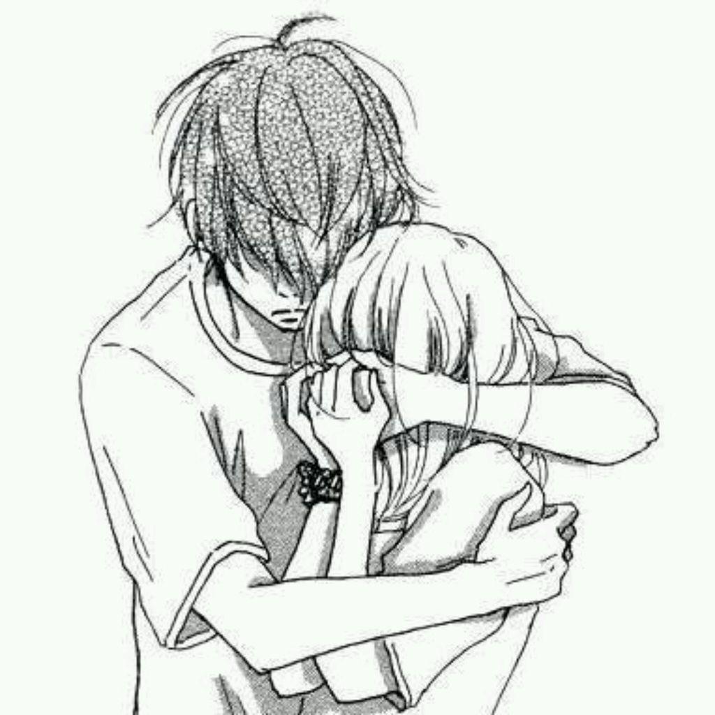 Boy And Girl Hugging Drawing at GetDrawings   Free download
