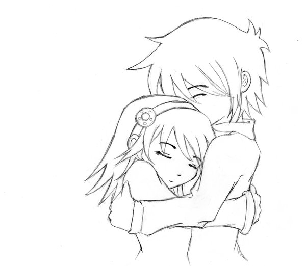 600x522 Gallery Anime Hugging Drawing,