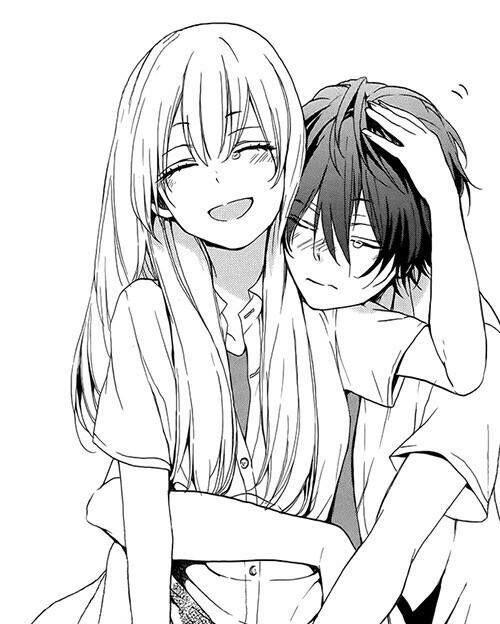 500x624 Image result for anime guy and girl hugging Anime Pinterest