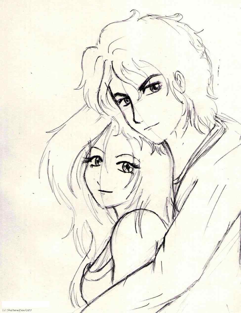 975x1264 sad anime love hug drawings