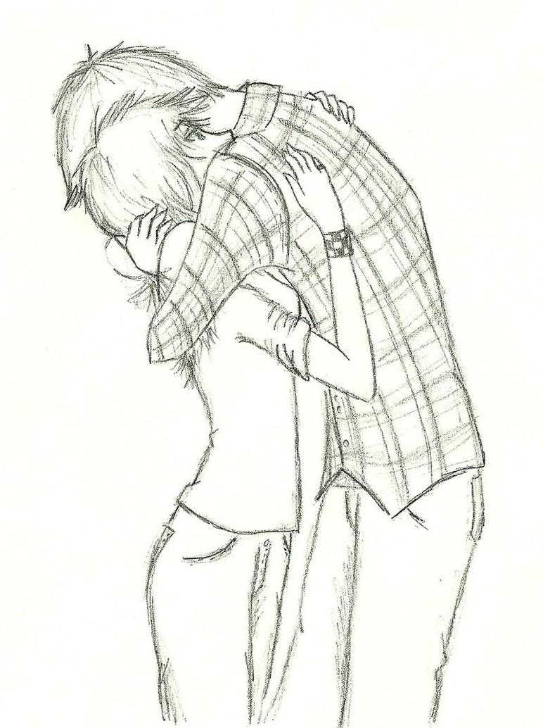 772x1034 Anime Hug Sketch