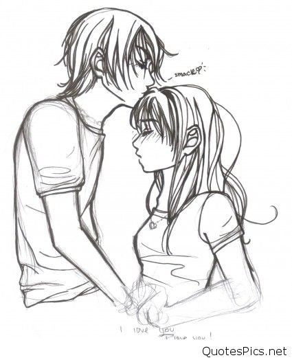 425x524 Cute Cartoon Love Couple Drawings Images Amp Pics