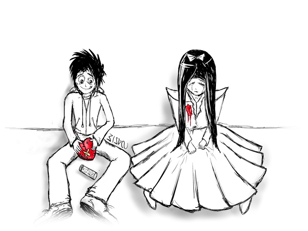 1024x770 Drawing On Breakup Of Girl And Boy