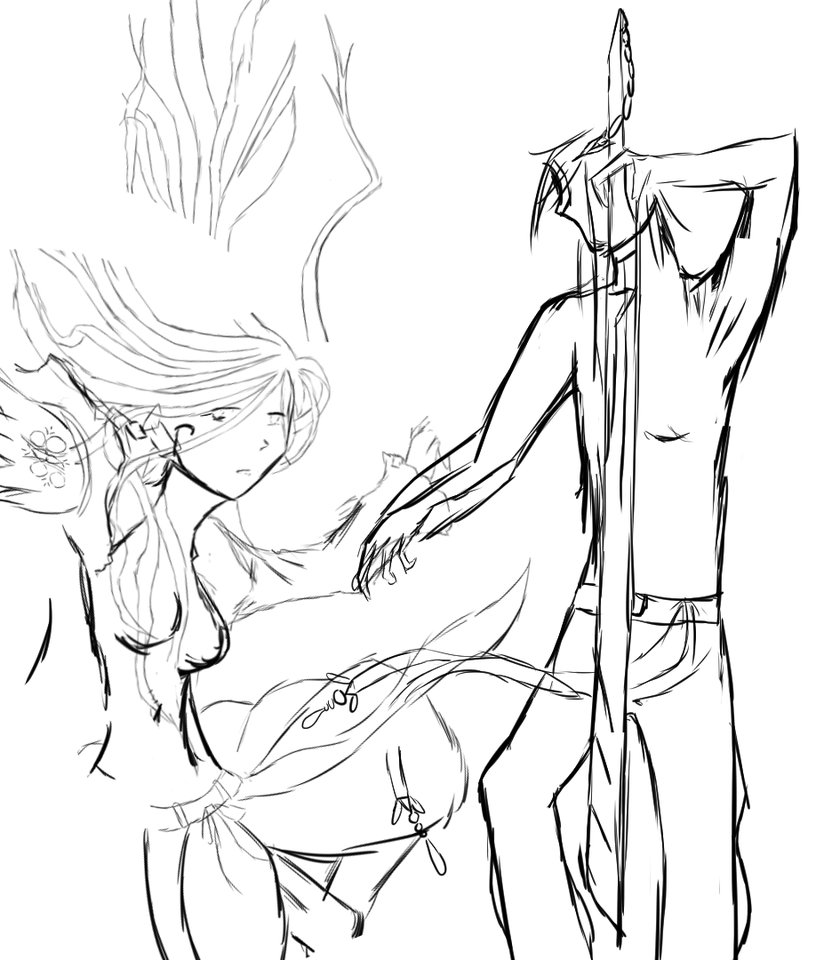 832x960 Anime Boy And Girl In Love Drawing