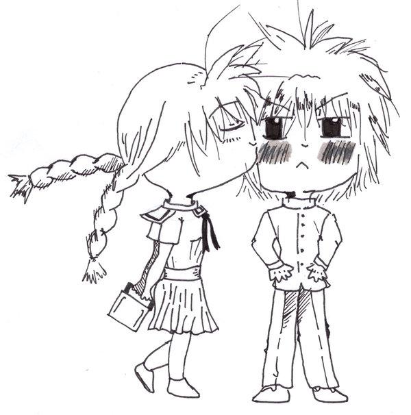 600x606 Chibi Girl Kissing Chibi Boy By Anime Candy