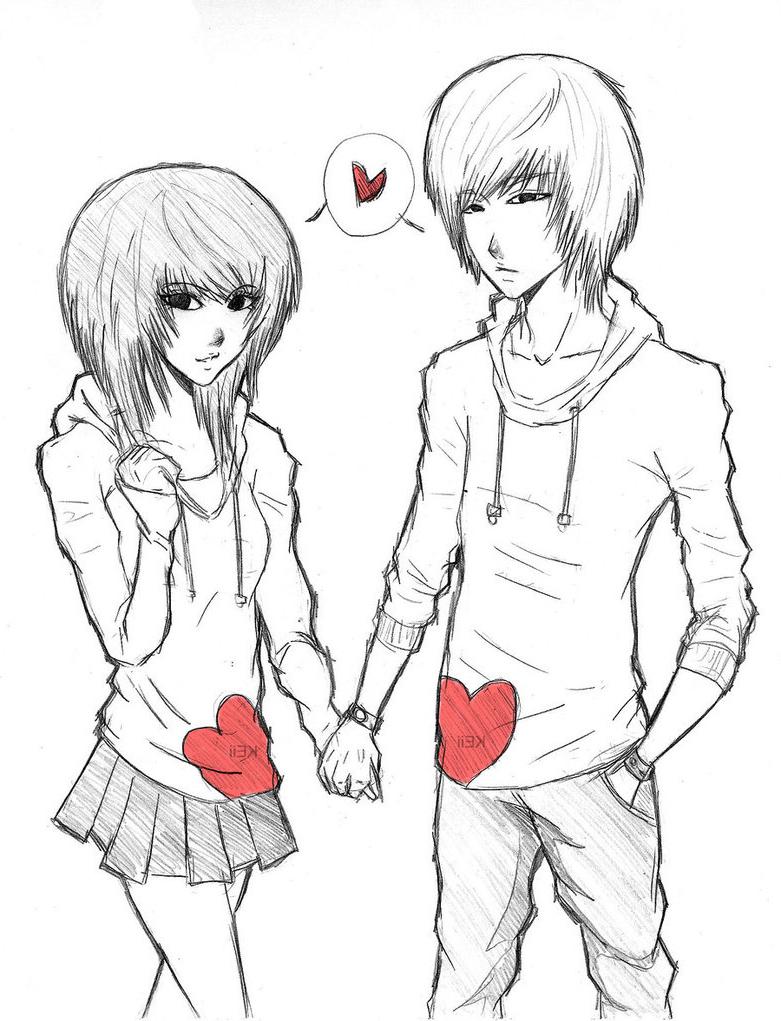781x1021 Hd Cute Boy And Girl Kissing Sketch Couple By Garibenrock D2xxd9n