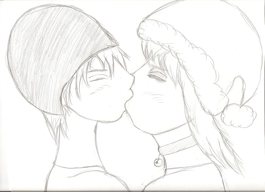 900x654 Boy And Girl Kissing By Animeandwowfreak