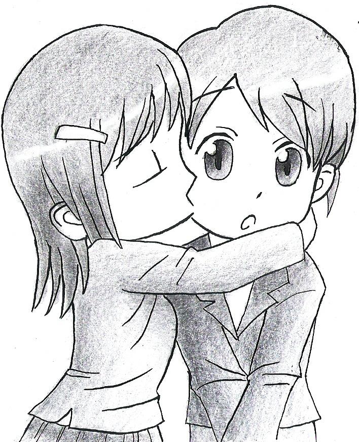 708x870 Chibi Kiss The Cheek By Rcuvyo