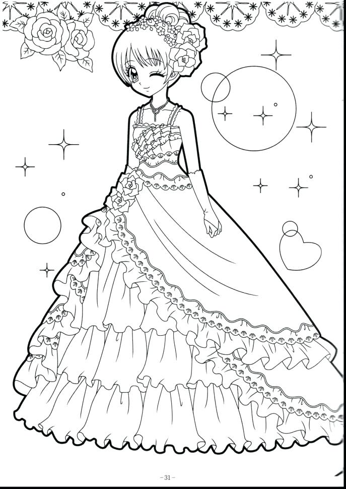 687x970 Cartoon Girl Coloring Pages Printable Anime Coloring Pages Me Cute