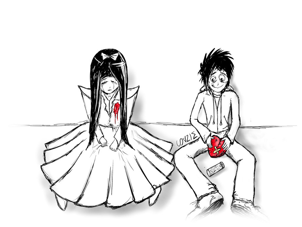 1024x770 Boy And Girl In Love Drawing Broken Heart