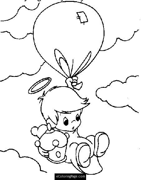 452x576ngel Printable Coloring Pages Baby Boyngel Flying